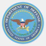 U.S. Departamento de Defensa Pegatina Redonda