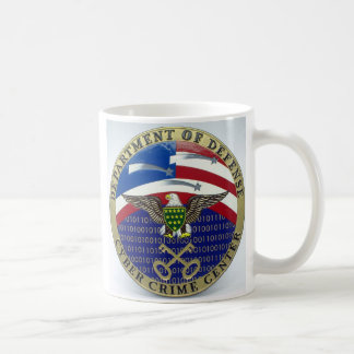 U.S. Departamento de la DEFENSA - centro cibernéti Tazas