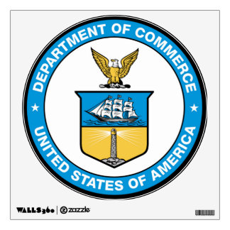 U.S. Department of Commerce Wall Decal