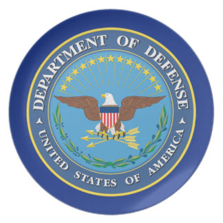 U.S. Department of Defense Melamine Plate