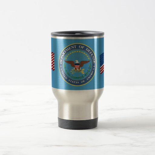 U.S. Department of Defense 15 Oz Stainless Steel Travel Mug