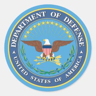 U.S. Department of Defense Round Stickers