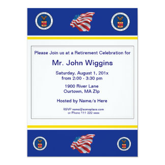 "U.S. Department of Labor Retirement Invitation 6.5"" X 8.75"" Invitation Card"
