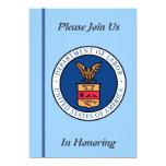 """U.S. Department of Labor Retirement Invitation 5"""" X 7"""" Invitation Card"""