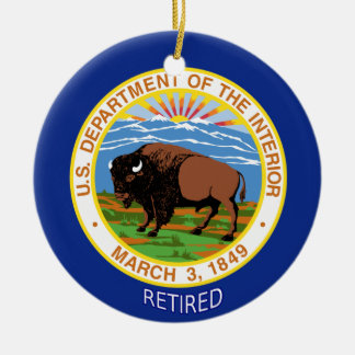 U.S. Department Of The Interior Retired Ceramic Ornament