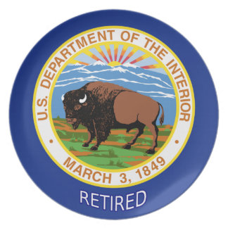 U.S. Department Of The Interior Retired Dinner Plate