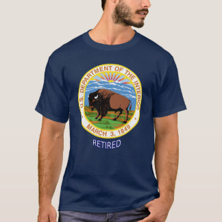 U.S. Department Of The Interior Retired T-Shirt