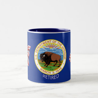 U.S. Department Of The Interior Retired Two-Tone Coffee Mug