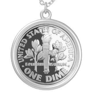 U.S. Dime Silver Plated Necklace