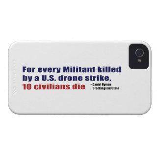 U.S. Drone Strike Militant Civilian Kill Ratio Case-Mate iPhone 4 Cases