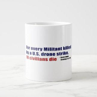U.S. Drone Strike Militant Civilian Kill Ratio Giant Coffee Mug