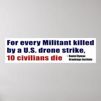 U.S. Drone Strike Militant Civilian Kill Ratio Poster