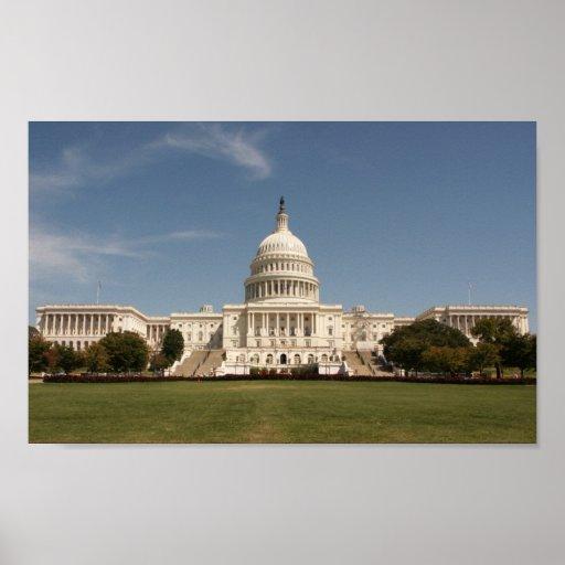 U.S. Edificio del capitolio Póster