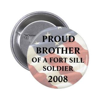 U.S. EJÉRCITO - Fort Sill, AUTORIZACIÓN Brother or Pin Redondo De 2 Pulgadas