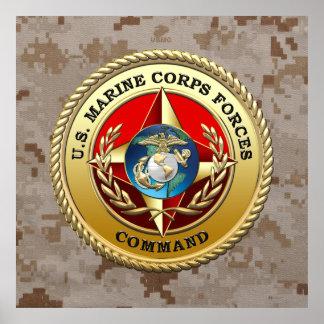 U S El Cuerpo del Marines fuerza el comando MARF Poster