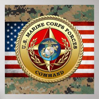 U S El Cuerpo del Marines fuerza el comando MARF Posters