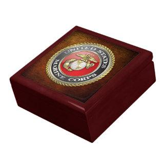 U.S. El Cuerpo del Marines (USMC) simboliza [3D] Joyero Cuadrado Grande