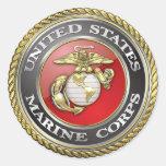 U.S. El Cuerpo del Marines (USMC) simboliza [3D] Pegatinas