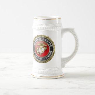 U.S. El Cuerpo del Marines (USMC) simboliza [3D] Tazas
