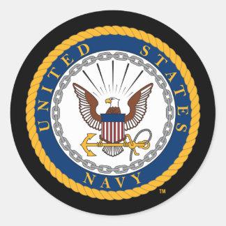 U.S. Emblema de la marina de guerra de la marina Pegatina Redonda