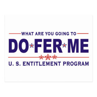 U. S. entitlement program Postcard