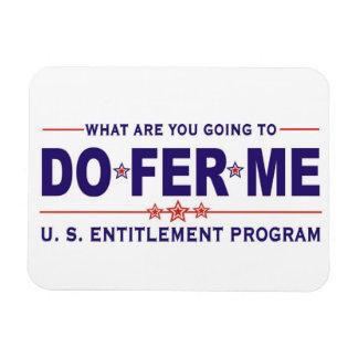 U.S. entitlement program Rectangular Magnet