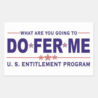 U. S. entitlement program Rectangular Stickers