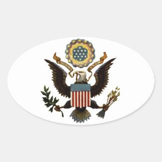 U.S. ESCUDO DE ARMAS PEGATINA OVALADA