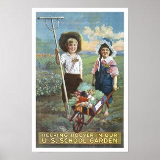U.S. Escuela Gardens, 1919 Póster