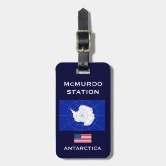 U.S. - Etiqueta antártica del equipaje de la