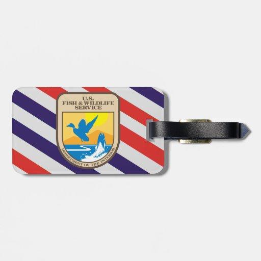 U.S. Etiqueta del equipaje de la dirección de pesc Etiquetas Para Equipaje