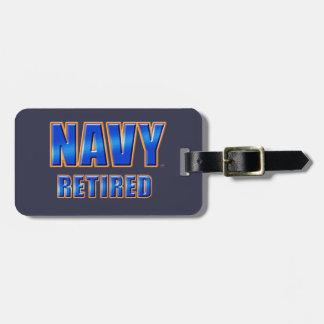 U.S. Etiqueta jubilada marina de guerra del Etiqueta Para Maleta