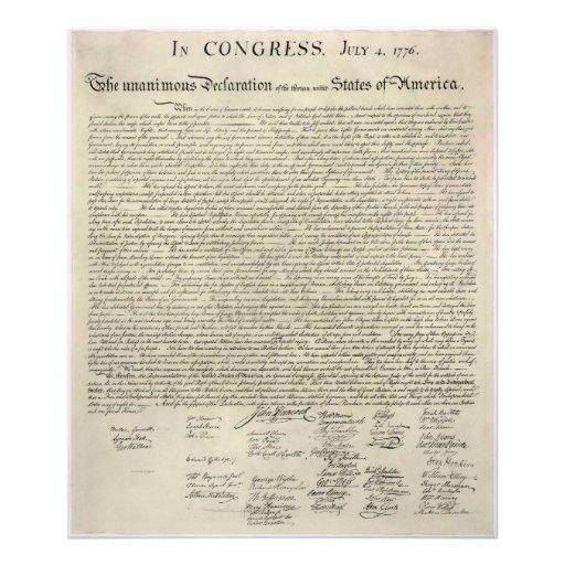 U.S. Facsímil de la Declaración de Independencia 1 Cojinete