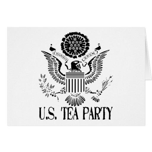 U.S. Fiesta del té Tarjeta De Felicitación