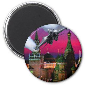 U.S. Fighter Jet over the Kremlin Magnets