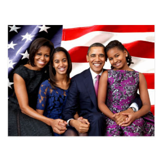 U.S. First Family - The Obamas Postcard