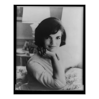 U.S. First Lady Jacqueline Kennedy Portrait Poster