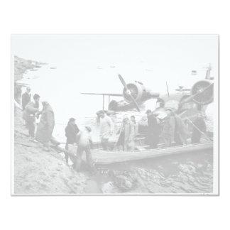 U.S. Fish and Wildlife Service Arriving on Nunivak 4.25x5.5 Paper Invitation Card