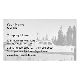U.S. Fish and Wildlife Service Patrol Boat in Prin Business Card Templates