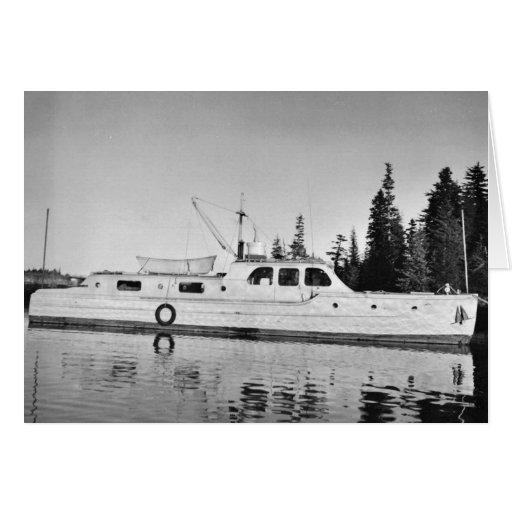 U.S. Fish and Wildlife Service Patrol Boat in Prin Greeting Card