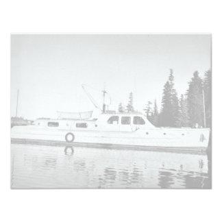 U.S. Fish and Wildlife Service Patrol Boat in Prin 4.25x5.5 Paper Invitation Card