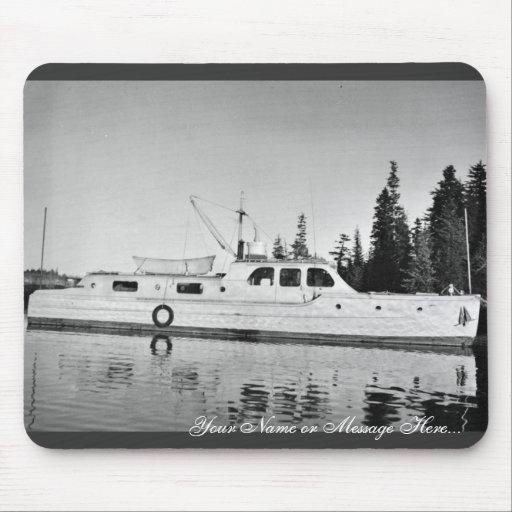 U.S. Fish and Wildlife Service Patrol Boat in Prin Mousepad
