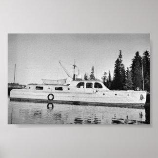 U.S. Fish and Wildlife Service Patrol Boat in Prin Poster