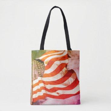 USA Themed U.S. Flag 1974 Tote Bag