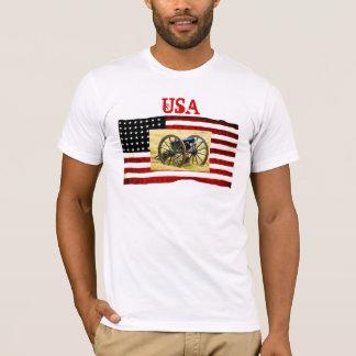 U.S. Flag And Civil War T-Shirt