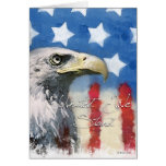 U.S. Flag and Eagle Pariotic - United We Stand Card