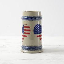 U. S. Flag Beer Stein