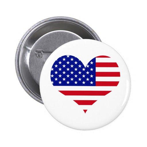 U. S. Flag Pinback Button