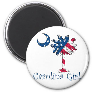 U.S. Flag Carolina Girl Refrigerator Magnets