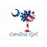 U.S. Flag Carolina Girl Post Card